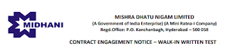 Sarkari Naukri - Mishra Dhatu Nigam Limited MIDHANI - Assistant Posts - APPLY NOW