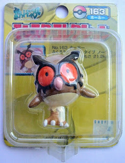 Hoothoot Pokemon figure Tomy Monster Collection yellow package series
