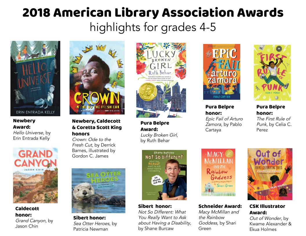 Great Kid Books 2018 Newbery And Beyond Highlights For 4th 5th