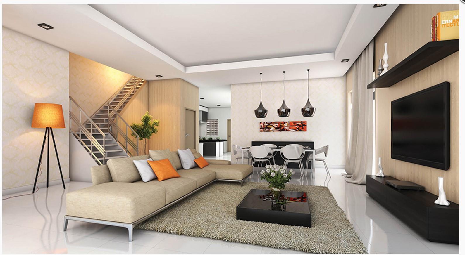 Design Ruang Tamu Rumah Semi D