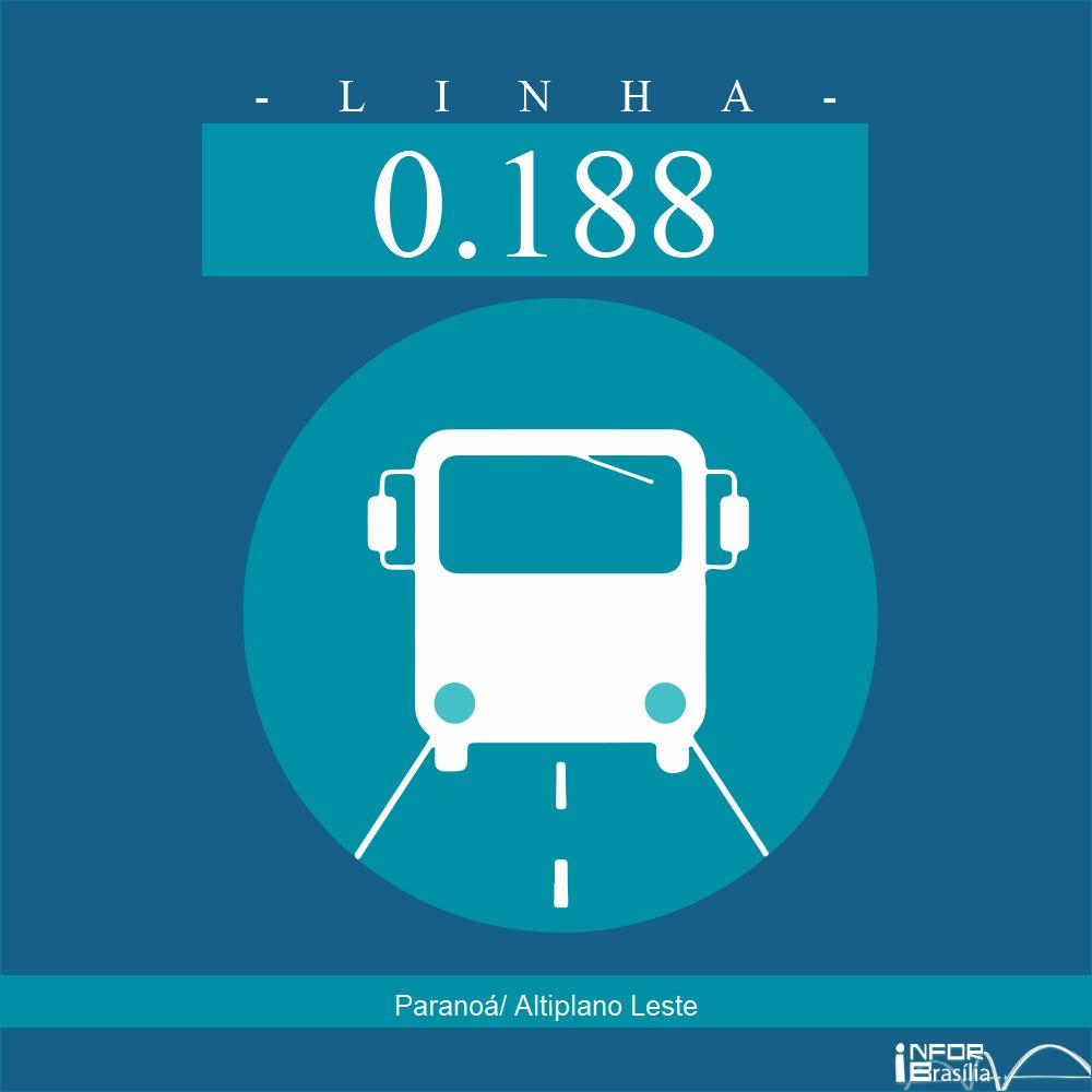 Horário de ônibus e itinerário 0.188 - Paranoá/ Altiplano Leste