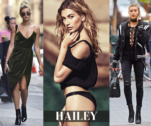 shop hailey baldwin's closet shoppable outfit links
