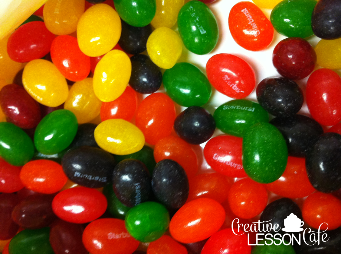 Creative Lesson Cafe Food Fractions Jelly Beans And