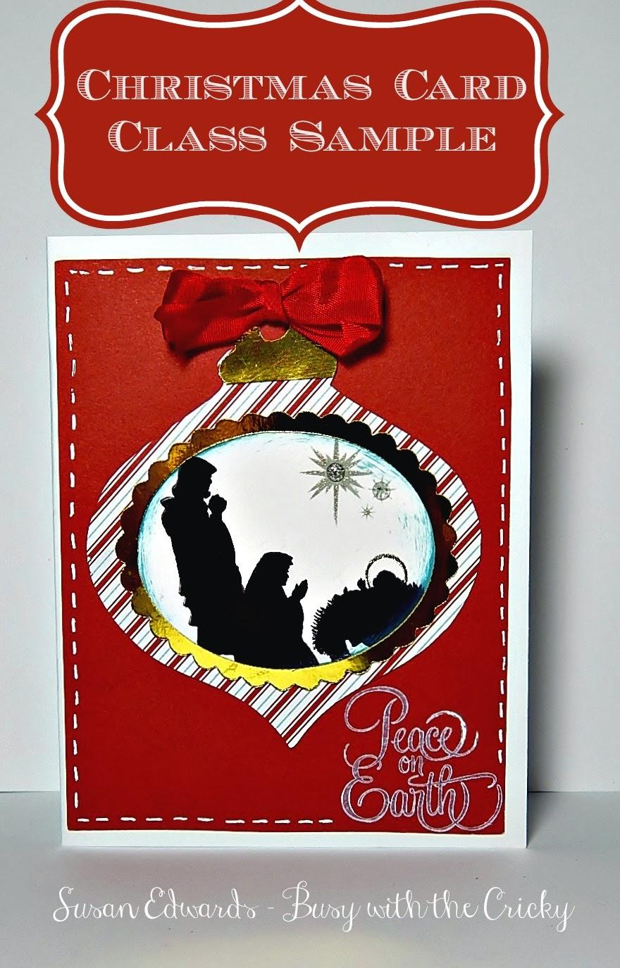 Busy with the Cricky: Nativity Ornament Christmas Card ...
