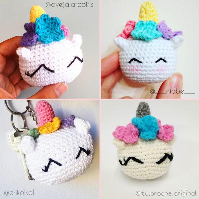 unicornios crochet