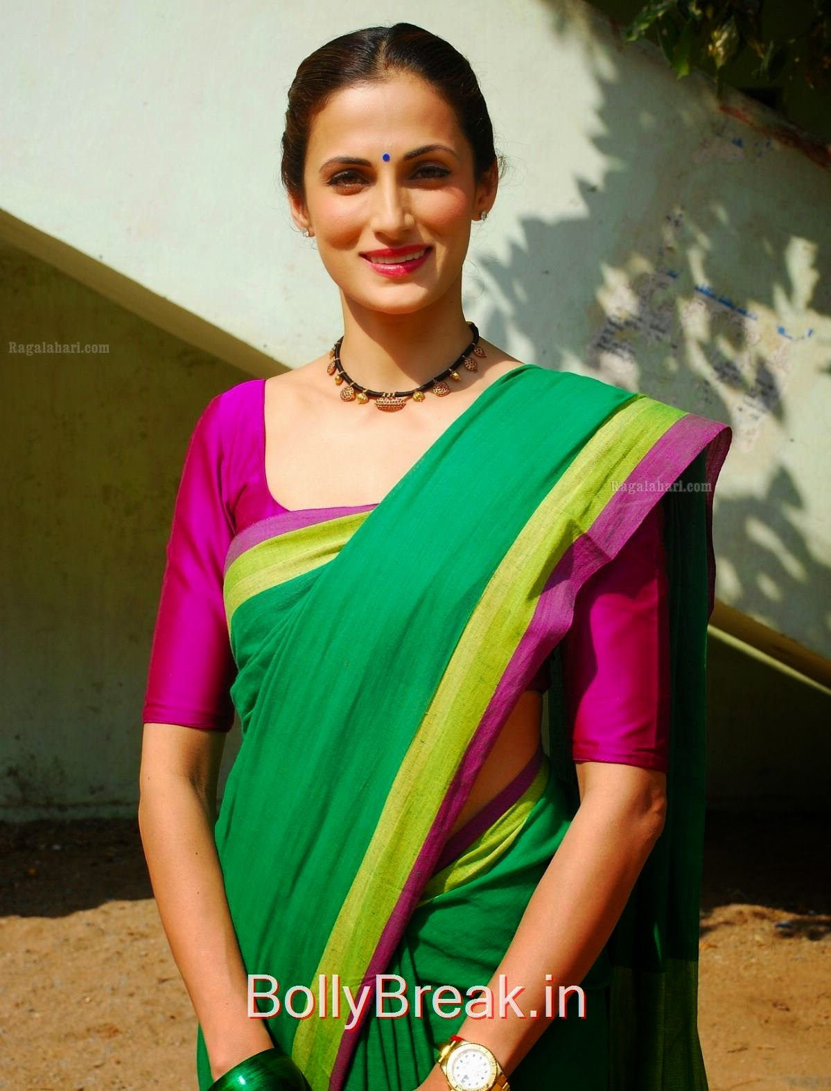 Shilpa Reddy,  Shilpa Reddy hot pics in green saree