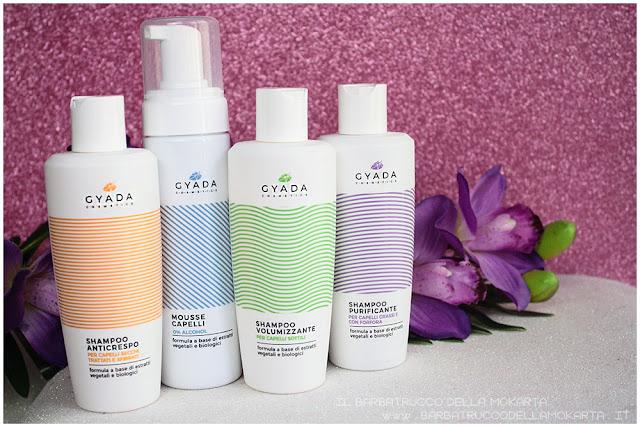 shampoo anticrespo purificante volumizzante mousse capelli   hair color vibes gyada cosmetics recensione