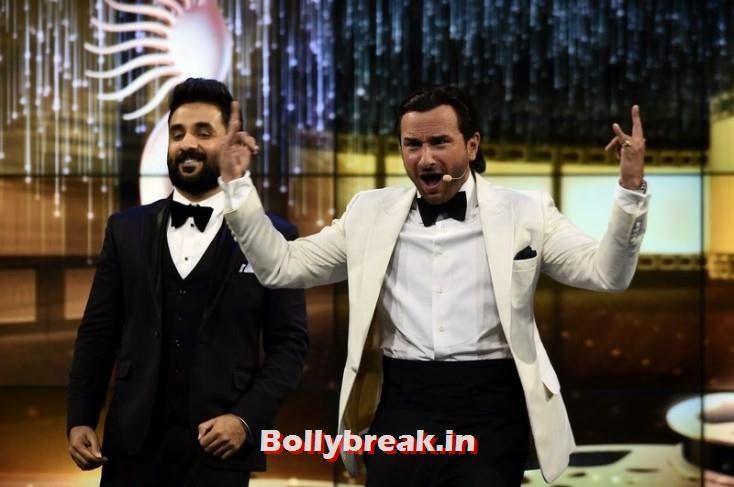 Vir Das and Saif Ali Khan, IIFA 2014 Dance Performance Pics