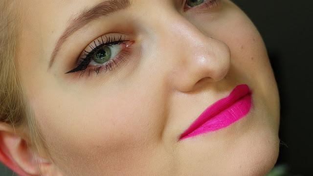 Mój niedzielny makijaż: Delikatne oko+mega sexy usta!