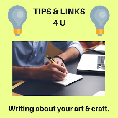 Writing about your art & craft.