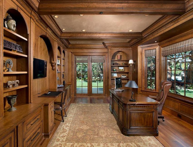 best custom traditional home office desks real wood design ideas