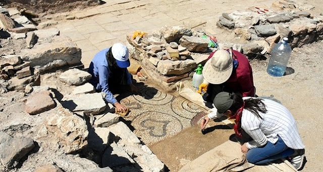 Early Byzantine church with mosaic floor unearthed in ancient city of Stratonikeia