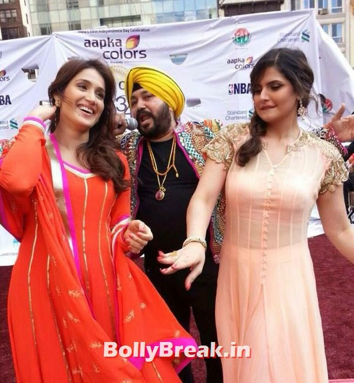 Daler Mehndi, Zarine Khan, Zarine Khan Pics from New York Independence Day Parade