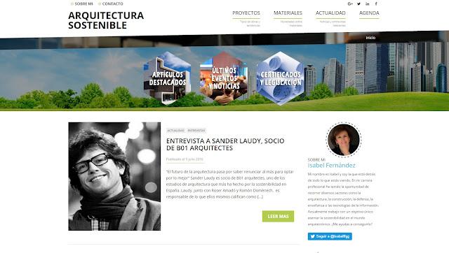 Sobre le blog de Arquitectura, Arquitectura Sostenible creado por Isabel fernandez
