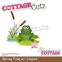http://www.scrappingcottage.com/cottagecutzspringfrogwlilypad.aspx