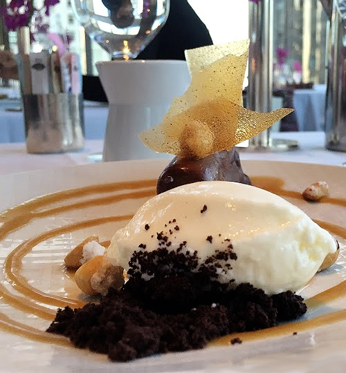New York City, Mandarin Oriental, dessert, chocolate, ice cream, fine dining