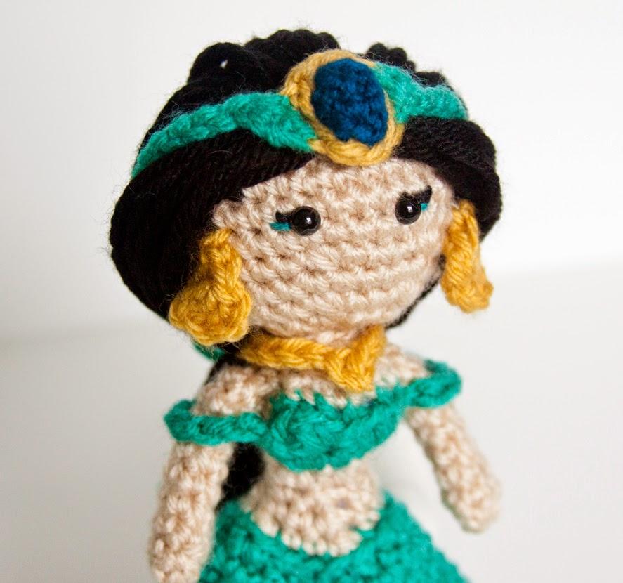 Ravelry: Princess Jasmine Amigurumi pattern by Vivianne Russo - Philae | 830x887