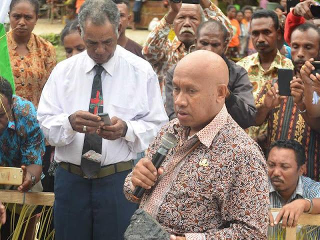 Peletakkan Batu Pertama Situs Pekabaran Injil di Maudori Jadi Sinergitas Biak Numfor - Supiori