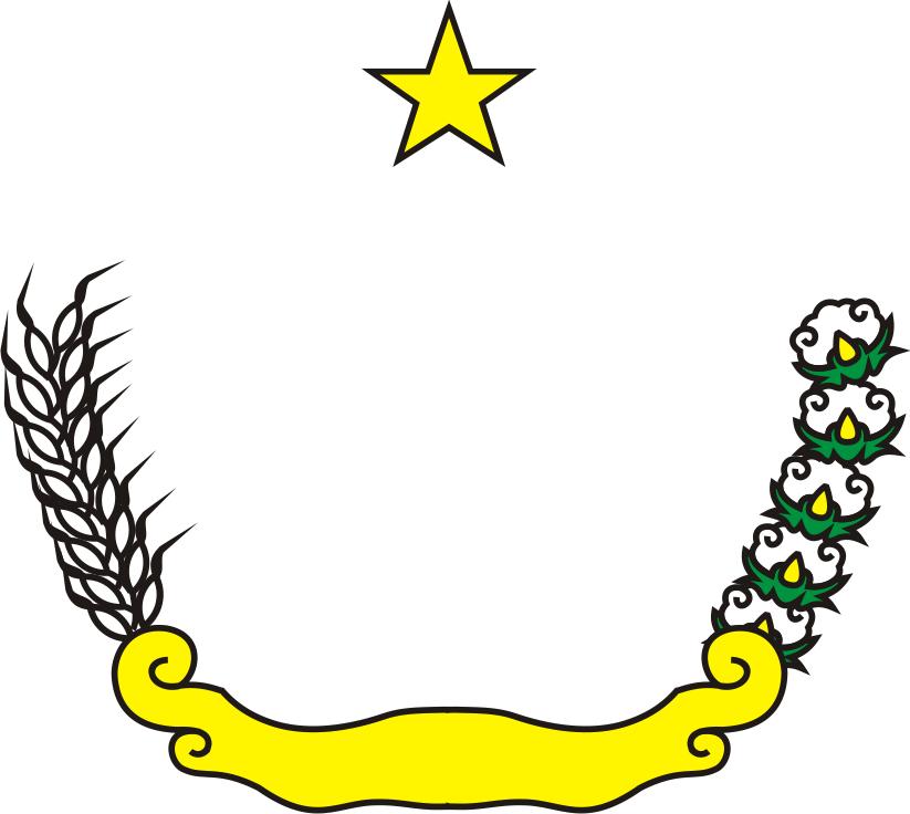 bintang, padi dan kapas