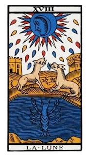 La Luna- Arcano XVIII- Tarot Marsella