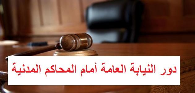 دور النيابة العامة أمام المحاكم المدنية