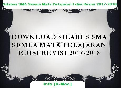 Silabus SMA Semua Mata Pelajaran Edisi Revisi 2017-2018 Terlengkap
