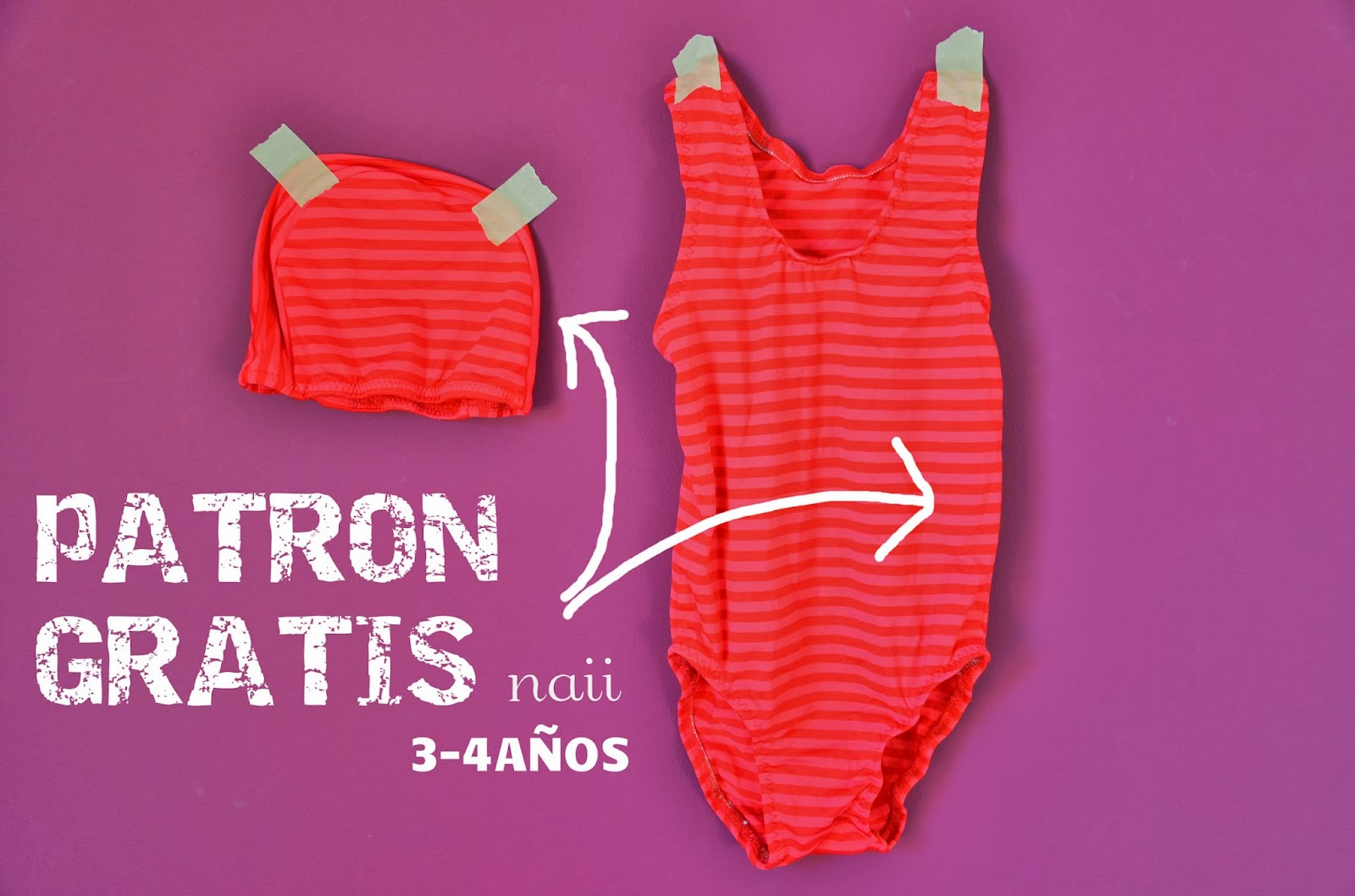Naii Pattern Infantil Free Costura Patronaje Bañador Gorra Y IyvbYf7g6