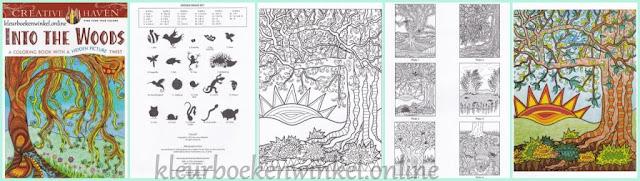 Kleurboek  into the woods