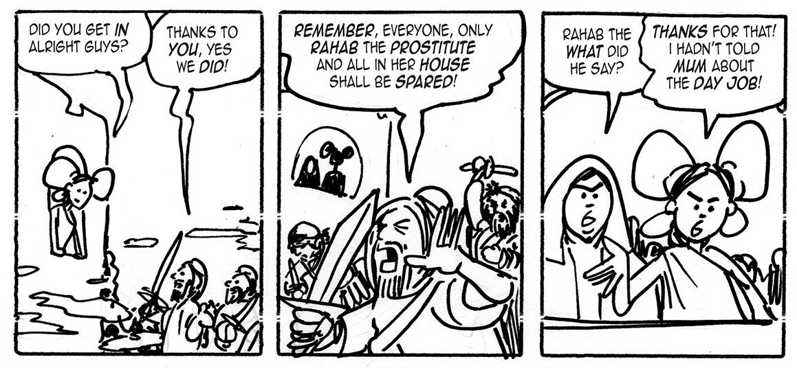 Kev F Comic Art Story Of Rahab Jael Wife Of Heber Written