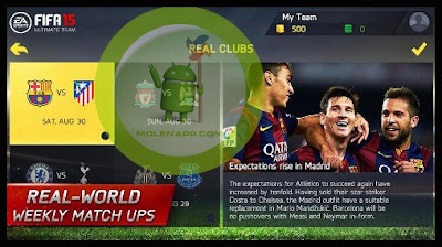 تحميل لعبة فيفا 15 للاندرويد مجانا FIFA 15 Ultimate Team