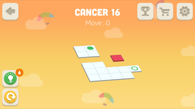 Bloxorz Cancer Level 16 step by step 3 stars Walkthrough, Cheats, Solution for android, iphone, ipad and ipod