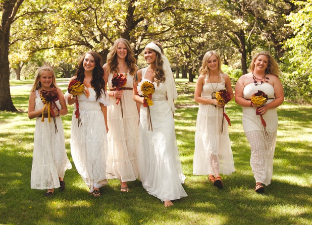 modern+youthful+boho+bohemian+tattoo+bride+tattooed+hippie+organic+eco+friendly+vintage+anthropolgie+wedding+yellow+mustard+white+bridesmaids+dresses+shabby+chic+outdoor+ceremony+reception+michael+liedtke+7 - Bohemian Rhapsody