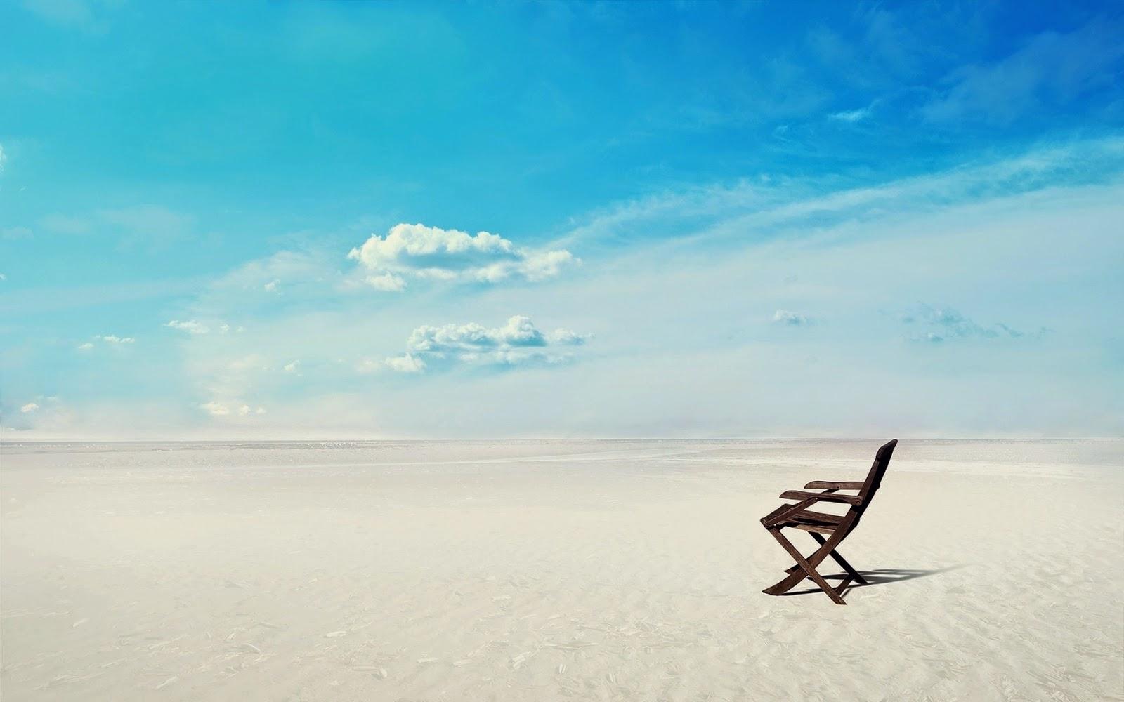 Beach Chair Desktop Wallpaper