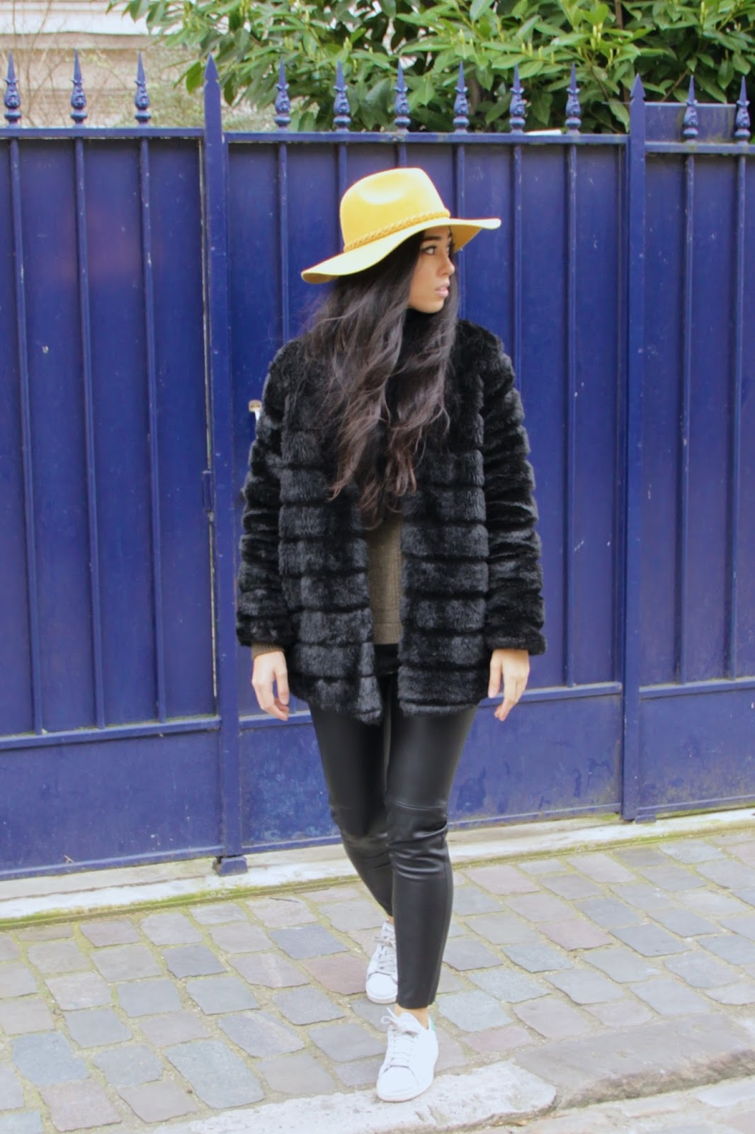 Elizabeth l Faux Fur coat leather pants l THEDEETSONE l http://thedeetsone.blogspot.fr