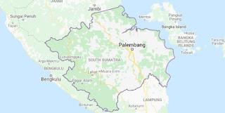 Peta Provinsi Sumatra Selatan
