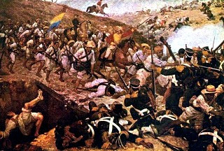 Imagen del enfrentamiento en la Batalla de Boyacá