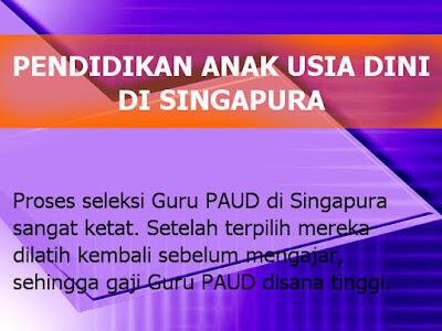 PAUD Pendidikan Anak Usia Dini di Singapura vs Indonesia