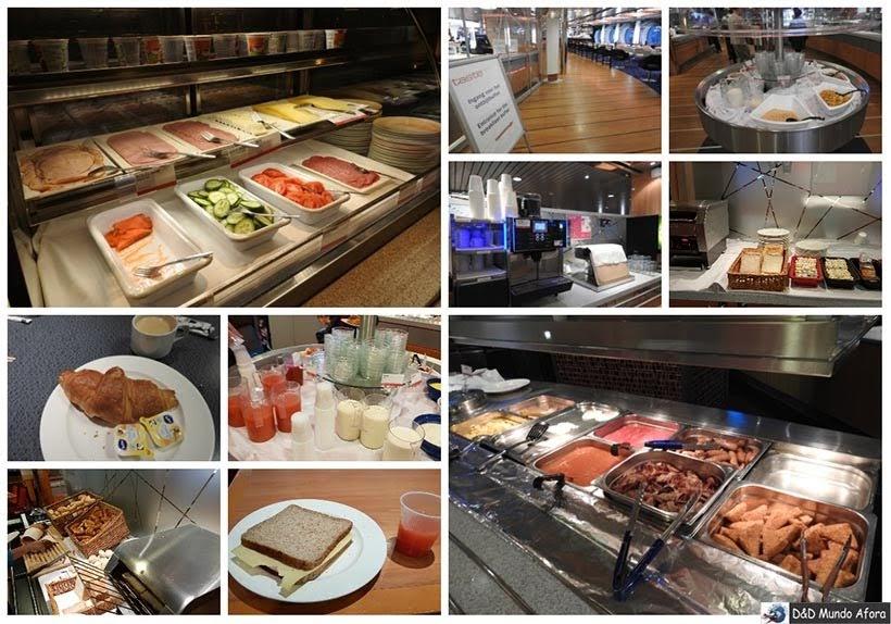 Café da manhã no restaurante no ferry da Stena Line - De Londres a Amsterdam: como fazer o trajeto de navio