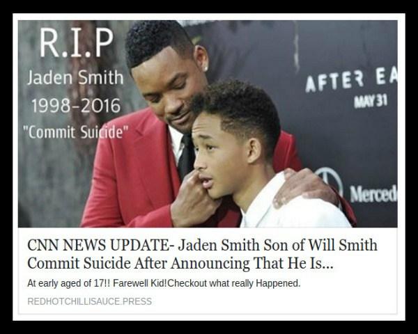 Jaden Smith Dead