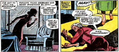 Amazing Spider-Man #57, don heck and john romita, worried about peter parker's disappearance, aunt may collapses and is found by anna watson