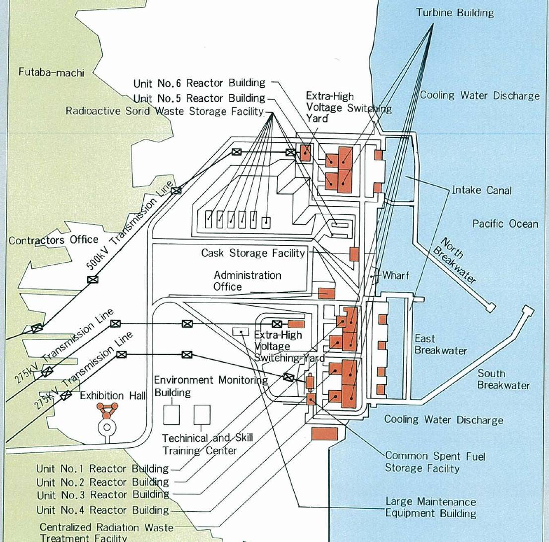Plant Site Map Examples: Fire And Smoke At Fukushima Daiichi Nuclear Power Plant