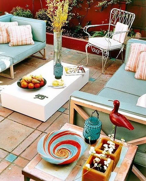 Colorful Outdoor Rooms: Cool Chic Style Attitude: Outdoor Living