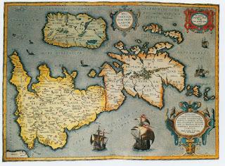 Mapa de las islas británicas en tiempos de los romanos