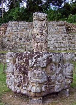 Parque arqueológico de Copán en Honduras