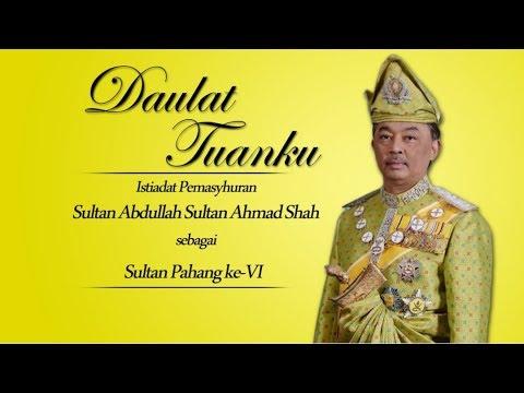 Istiadat Pemasyhuran Sultan Pahang Ke 6