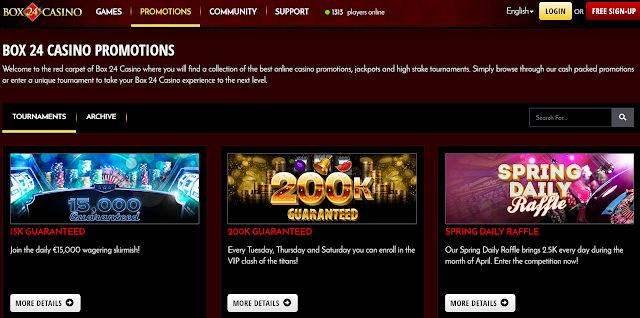 Box24 casino promotions