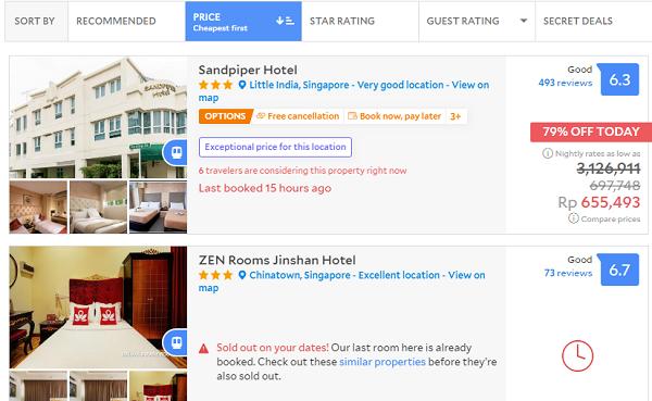 Booking Hotel Murah di Singapura
