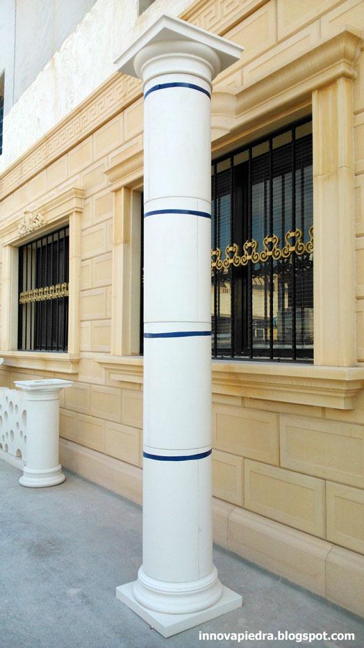 Columnas modulares prefabricadas con fustes lisos