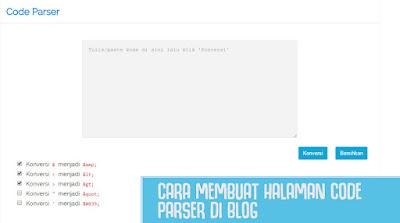 Cara Membuat Tools Code Parser/Converter HTML