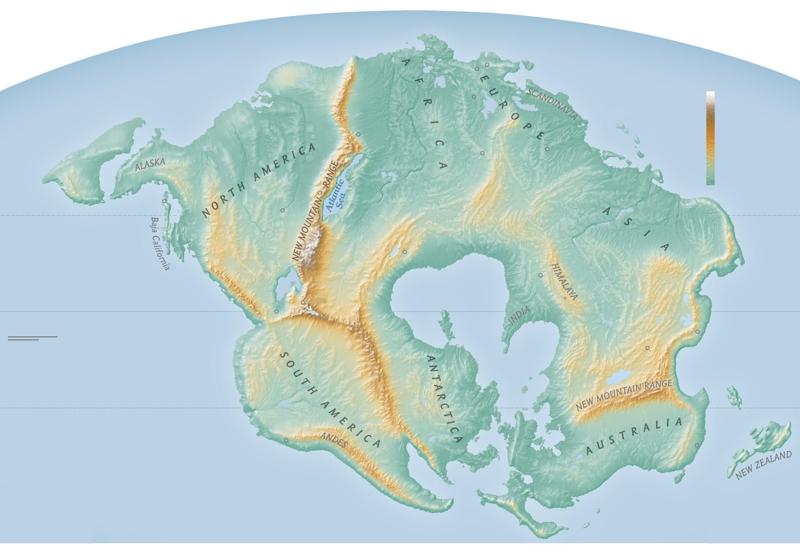 """Mappa Pangea Próxima: così il nostro pianeta tra """"qualche"""" milione di anni"""